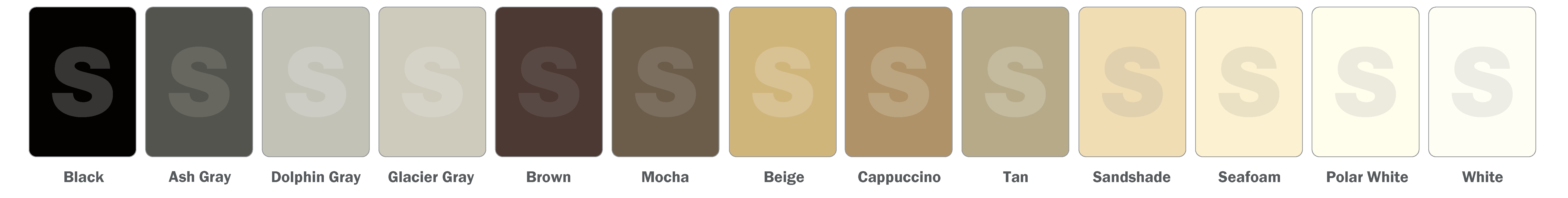 SIMONA Available Colors